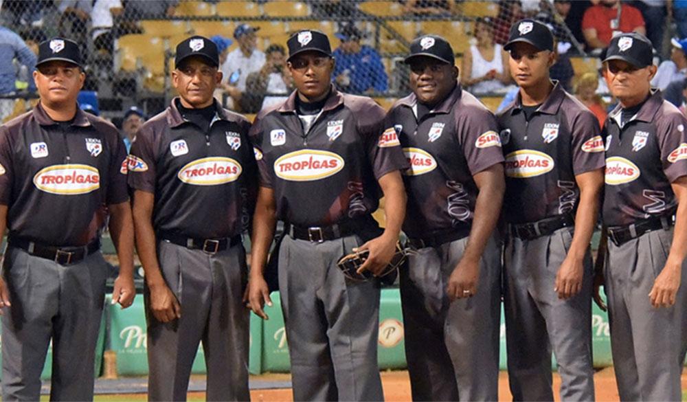Umpires dominicanos. Imagen de archivo.