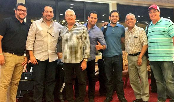 Antonio Puesan, Alberto Rodríguez, Pablo Peguero, Félix Peguero, Jesús Mejía, Mario Emilio Guerrero y Frank Gonzalvo