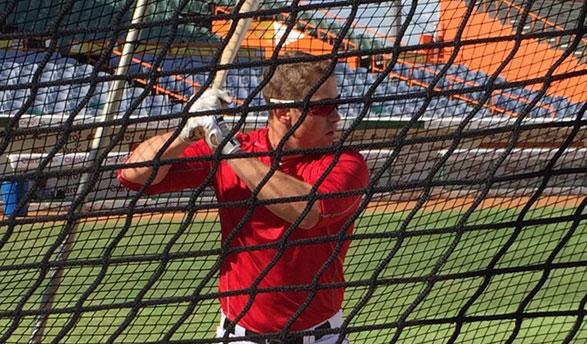 Tyler practicando esta mañana en el estadio Francisco Micheli