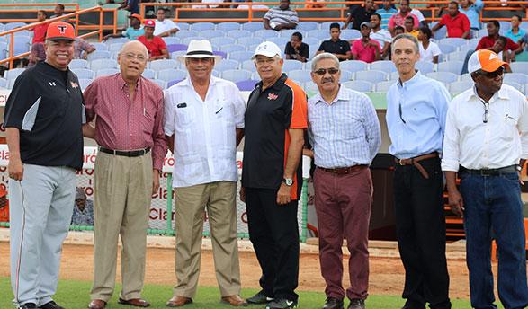 Félix Fermín, Frank Micheli, Winston Llenas, Pablo Peguero, Luis Catano, Abel Mejía y Luis Alcántara